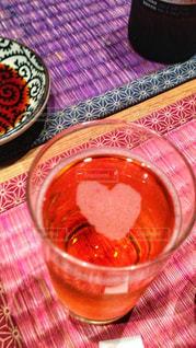 ピンク,ハート,グラス,ビール,可愛い,泡,お祝い,飲み会,むらさき,お食事
