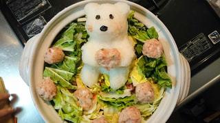 冬,鍋,料理,熊,クマ