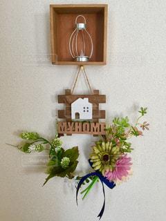 花,リース,工作,100均,手作り,飾り