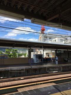 近くに鉄道駅のの写真・画像素材[1123560]