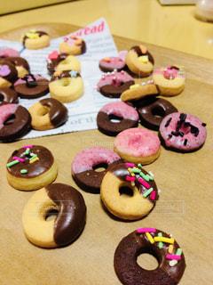 カラフルドーナツクッキーの写真・画像素材[822995]