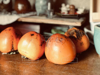 秋,フルーツ,果物,オレンジ色,柿