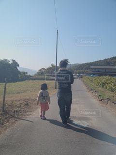 屋外,親子,散歩,子供,女の子,父,子,娘,お父さん