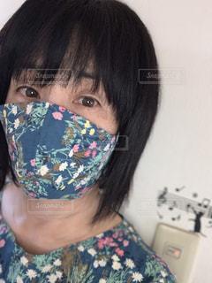 手作り立体マスクの写真・画像素材[3339206]