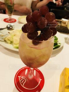 秋,お酒,フルーツ,くだもの,ブドウ,葡萄,カクテル,ぶどう