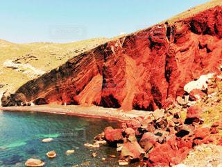 サントリーニ島のレッドビーチの写真・画像素材[801691]