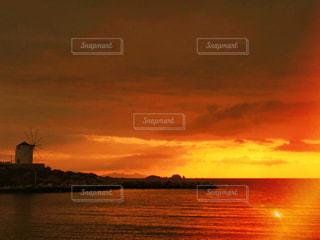 パロス島の夕日の写真・画像素材[801720]
