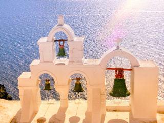 サントリーニ島の白い教会 - No.808840