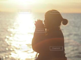 海と夕日の写真・画像素材[1020358]