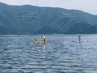自然,屋外,湖,ボート,カヌー,山,ペット,本栖湖