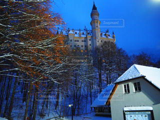 雪のノイシュバンシュタイン城の写真・画像素材[931258]