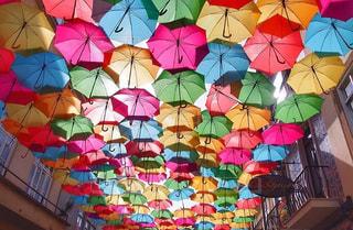 カラフルな傘の写真・画像素材[1248036]