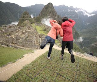アウトドア,カップル,登山,山頂,夢,マチュピチュ,ペルー,旅人,ポジティブ,世界一周,目標,ゴール,てっぺん,前向き,可能性,インスタ映え