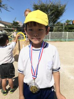 帽子をかぶった少年の写真・画像素材[791238]