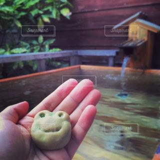 内風呂とお土産のかえる饅頭の写真・画像素材[791323]
