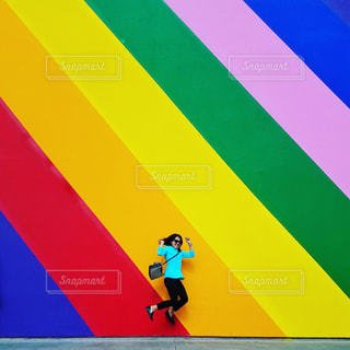 PaulSmithの壁でジャンプ♡の写真・画像素材[792588]