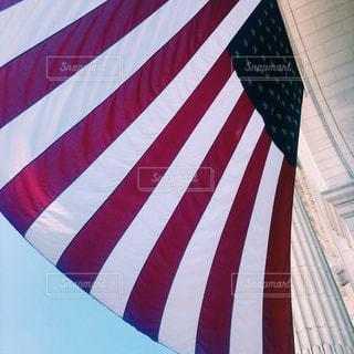 アメリカ国旗のアップの写真・画像素材[801313]