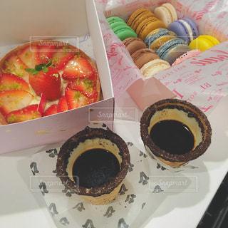 マカロン、ケーキ、チョコレート♡♡の写真・画像素材[867023]