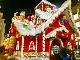 冬,夜,赤,かわいい,カラフル,アメリカ,クリスマス,可愛い,USA,ロサンゼルス,光る,西海岸,お菓子の家,カルフォルニア,派手,Christmas,LA留学シリーズ