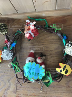 クリスマス,リース,サンタ,トナカイ,まつぼっくり