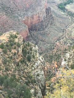 背景の山と渓谷の写真・画像素材[791597]