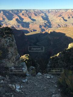 背景の山と渓谷の写真・画像素材[791611]