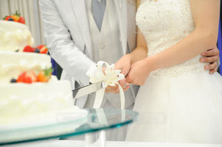 ケーキ入刀の写真・画像素材[812255]