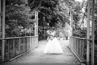橋の上での誓い♡の写真・画像素材[814977]