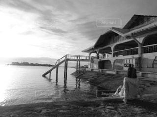 セブ島でみた夕日の写真・画像素材[820502]