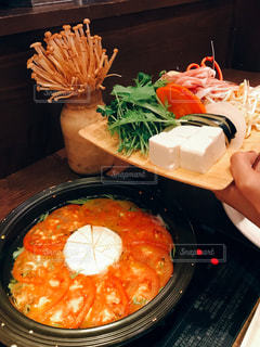 トマト,チーズ,鍋,おいしい,美味しい,夕飯,あったかい,トマト鍋,カマンベールチーズ,お鍋,あったかお鍋,カマンベールチーズ鍋