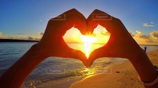 海,空,夕日,海外,ビーチ,きれい,綺麗,ハート,旅行,旅,sea,サンセット,時間を忘れる旅