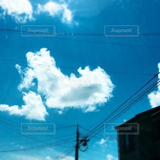 ハート雲の写真・画像素材[1100059]