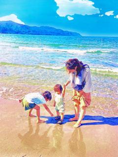 砂浜での写真・画像素材[1261008]