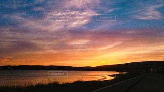 自然,風景,海,空,雲,夕焼け,夕暮れ,海岸,景色,sunset,新潟県