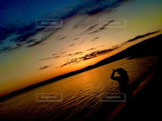 自然,風景,海,空,雲,島,砂浜,夕焼け,夕暮れ,海岸,景色,sunset,新潟県