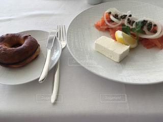 食べ物,朝食,アメリカ,ベーグル,レストラン,料理,ハワイ,ホノルル,サーモン,スモークサーモン,ハレクラニ,ORCHIDS