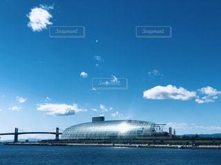 空,青,船,暗い,水面,景色,港,駐機場,浜通りと海