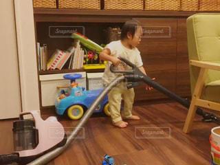 ぼくも掃除機かける - No.802535