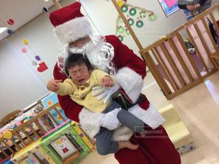 子供,クリスマス,泣く,サンタさん
