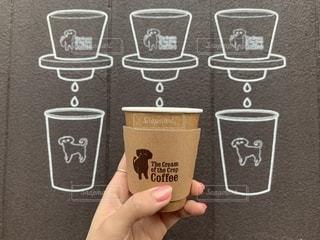 犬,カフェ,コーヒー,屋外,茶色,デザイン,cafe,ベージュ,デート,お出掛け,映え,インスタ映え,ミルクティ色