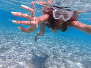 海,夏,ビーチ,水面,沖縄,旅行,ポートレート,ビキニ,素潜り