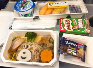 海外,飛行機,キャラ弁,機内食