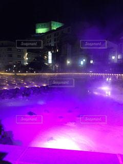 草津温泉の夜の様子の写真・画像素材[804453]