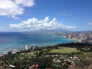 青い海,観光,ハワイ,ダイヤモンドヘッド,海外旅行,アロハ,常夏の島