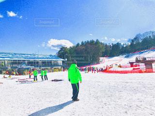 屋外,青空,スキー,スキー場,スノーボード