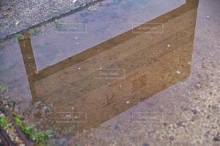 雨の下灘駅の写真・画像素材[812259]