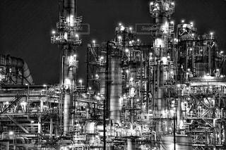都市の黒と白の写真の写真・画像素材[818431]