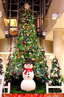 鮮やか,光,キラキラ,クリスマス,雪だるま,ツリー,装飾,クリスマスツリー,スノーマン