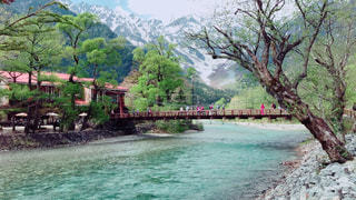 自然,風景,アウトドア,川,休日,上高地
