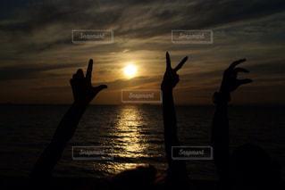 風景,海,空,夕日,人物,人,淡路島